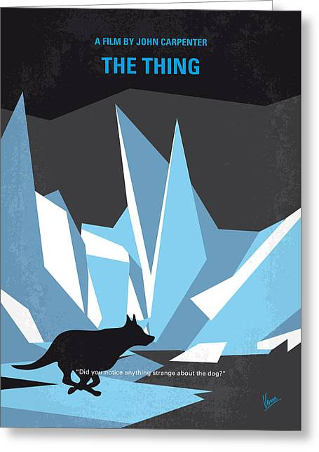 No466 My The Thing Minimal Movie Poster Greeting Card by Chungkong Art