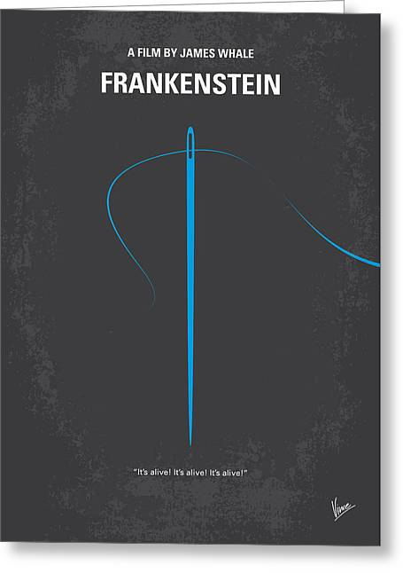No483 My Frankenstein Minimal Movie Poster Greeting Card by Chungkong Art