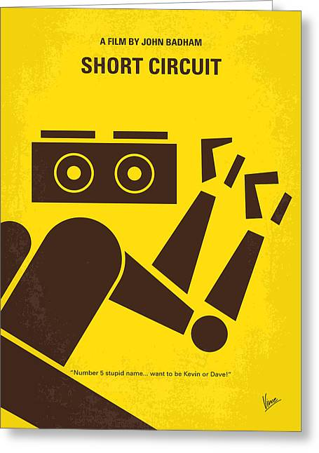 No470 My Short Circuit Minimal Movie Poster Greeting Card by Chungkong Art