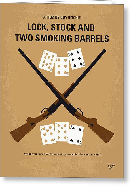 No441 My Lock Stock And Two Smoking Barrels Minimal Movie Poster Greeting Card by Chungkong Art