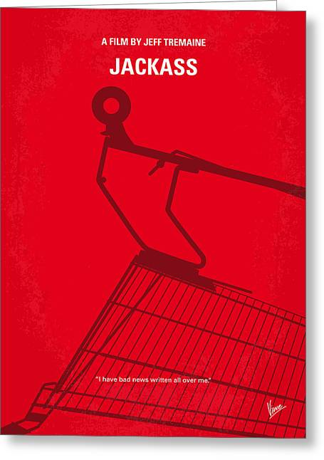 No444 My Jackass Minimal Movie Poster Greeting Card by Chungkong Art