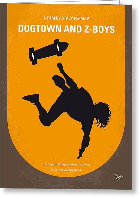 Extreme Greeting Cards - No450 My Dogtown and Z-Boys minimal movie poster Greeting Card by Chungkong Art