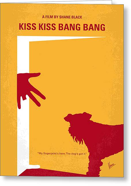 Kissing Greeting Cards - No452 My Kiss Kiss Bang Bang minimal movie poster Greeting Card by Chungkong Art