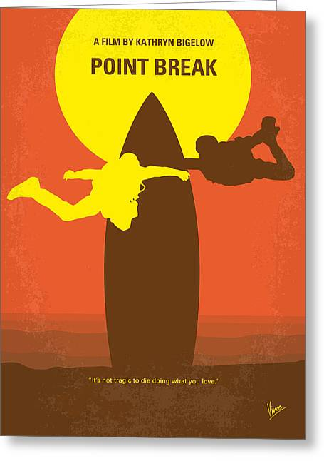Best Sellers -  - Surfer Art Greeting Cards - No455 My Point Break minimal movie poster Greeting Card by Chungkong Art