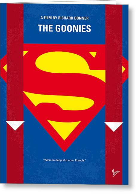 Eye Digital Art Greeting Cards - No456 My The Goonies minimal movie poster Greeting Card by Chungkong Art