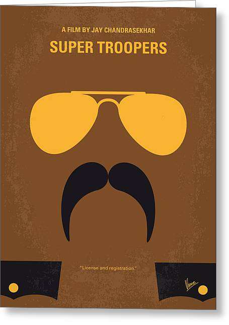 No459 My Super Troopers Minimal Movie Poster Greeting Card by Chungkong Art