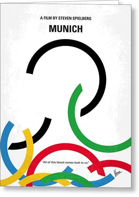 No460 My Munich Minimal Movie Poster Greeting Card by Chungkong Art
