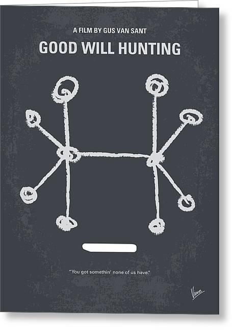 Good Greeting Cards - No461 My Good Will Hunting minimal movie poster Greeting Card by Chungkong Art