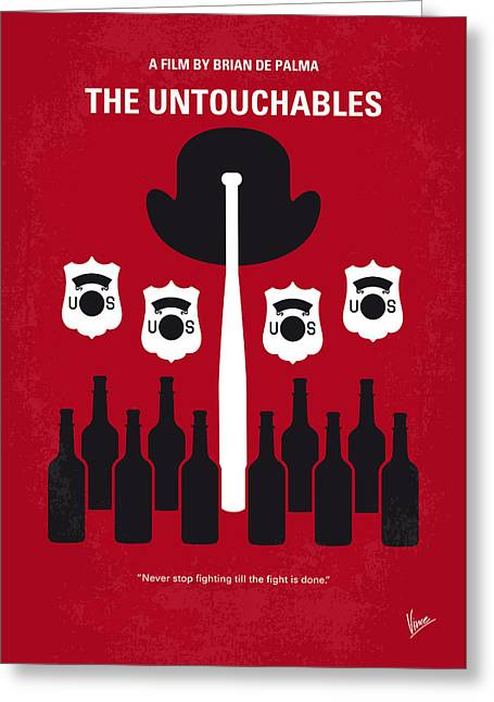 Prohibition Greeting Cards - No463 My The Untouchables minimal movie poster Greeting Card by Chungkong Art