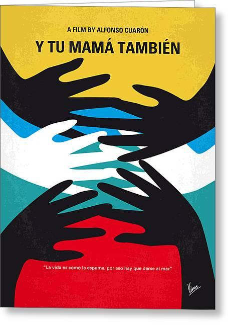 No468 My Y Tu Mama Tambien Minimal Movie Poster Greeting Card by Chungkong Art