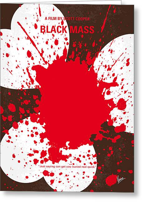 Black Greeting Cards - No471 My Black Mass minimal movie poster Greeting Card by Chungkong Art