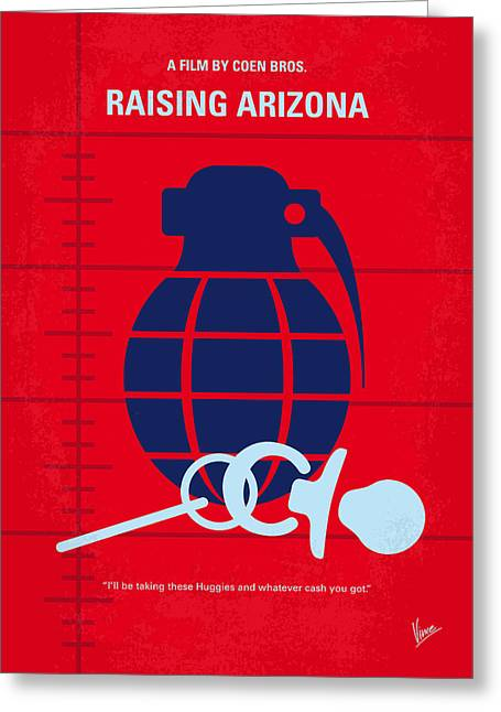 Mug Greeting Cards - No477 My Raising Arizona minimal movie poster Greeting Card by Chungkong Art
