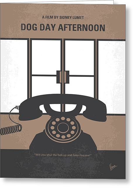 No479 My Dog Day Afternoon Minimal Movie Poster Greeting Card by Chungkong Art