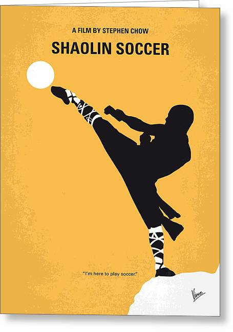 Evil Digital Greeting Cards - No480 My Shaolin Soccer minimal movie poster Greeting Card by Chungkong Art