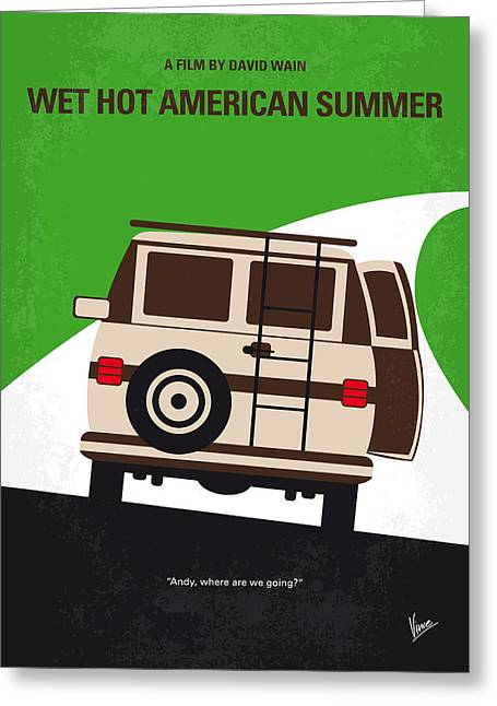Camps Greeting Cards - No481 My Wet Hot American Summer minimal movie poster Greeting Card by Chungkong Art