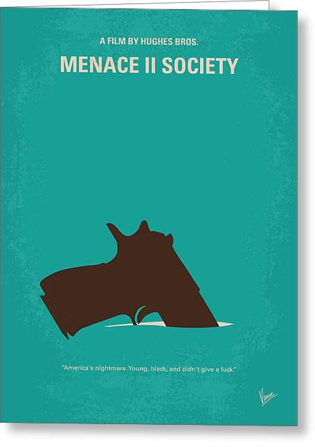 No484 My Menace II Society Minimal Movie Poster Greeting Card by Chungkong Art