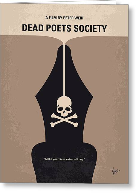 No486 My Dead Poets Society Minimal Movie Poster Greeting Card by Chungkong Art