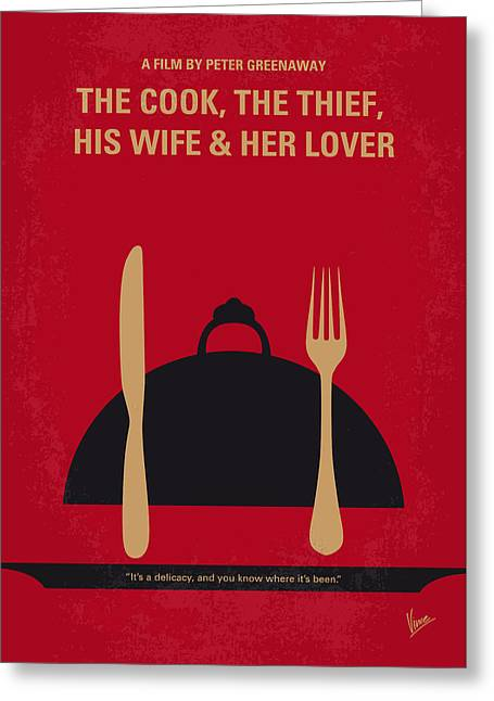 No487 My The Cook The Thief His Wife And Her Lover Minimal Movie Greeting Card by Chungkong Art