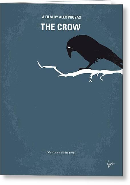 Vigilantes Greeting Cards - No488 My The Crow minimal movie poster Greeting Card by Chungkong Art