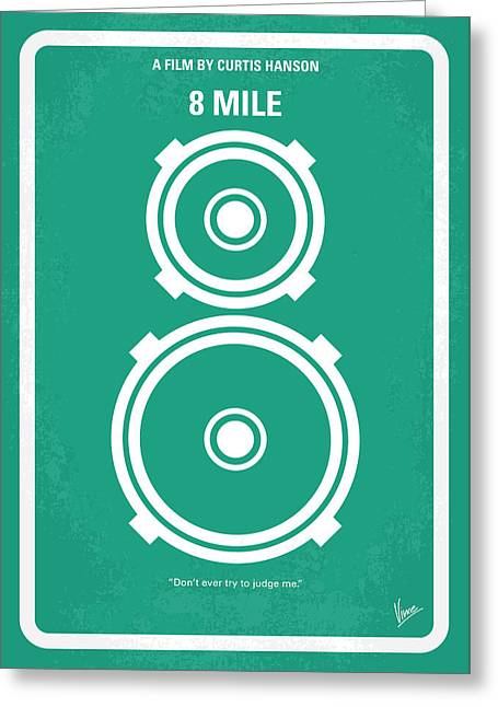 Brittany Greeting Cards - No491 My 8 Mile minimal movie poster Greeting Card by Chungkong Art