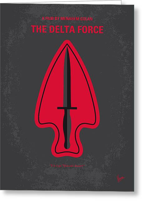 Chucks Greeting Cards - No493 My The Delta Force minimal movie poster Greeting Card by Chungkong Art