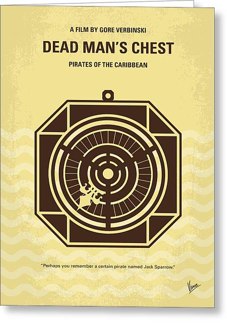 Chest Digital Greeting Cards - No494-2 My Pirates of the Caribbean II minimal movie poster Greeting Card by Chungkong Art
