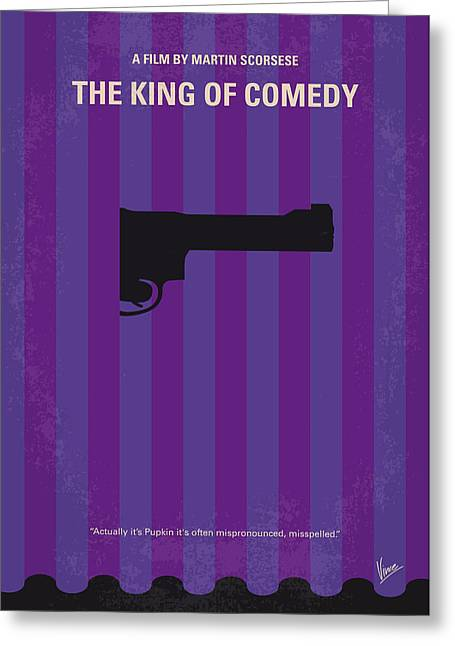 No496 My The King Of Comedy Minimal Movie Poster Greeting Card by Chungkong Art