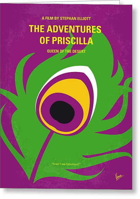 No498 My Priscilla Queen Of The Desert Minimal Movie Poster Greeting Card by Chungkong Art