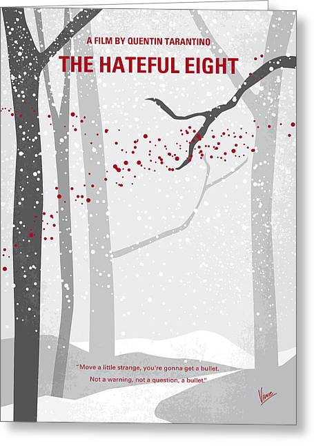 No502 My Hateful Eight Minimal Movie Poster Greeting Card by Chungkong Art