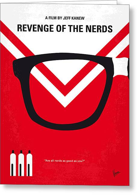 Gilbert Greeting Cards - No504 My Revenge of the Nerds minimal movie poster Greeting Card by Chungkong Art