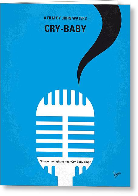 Baby Crying Greeting Cards - No505 My Cry-Baby minimal movie poster Greeting Card by Chungkong Art