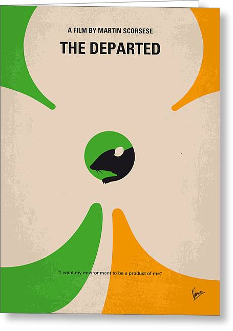 Mob Greeting Cards - No506 My The Departed minimal movie poster Greeting Card by Chungkong Art