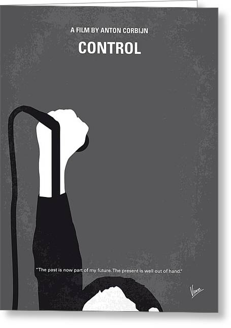 No508 My Controle Minimal Movie Poster Greeting Card by Chungkong Art