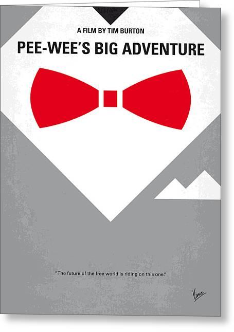 No511 My Pee Wees Big Adventure Minimal Movie Poster Greeting Card by Chungkong Art