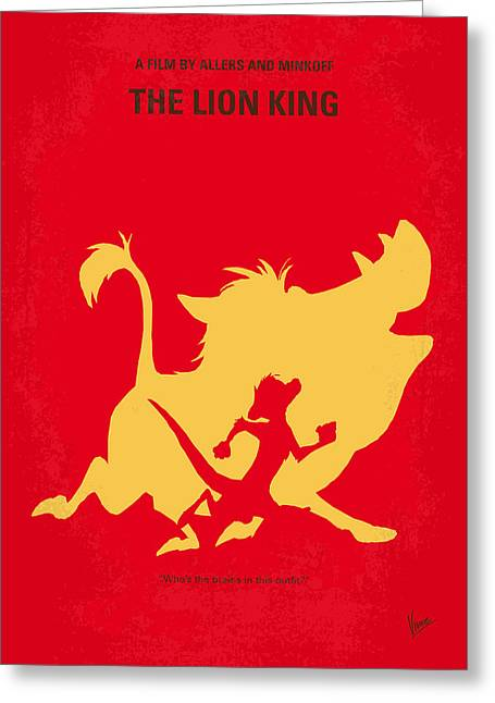 No512 My The Lion King Minimal Movie Poster Greeting Card by Chungkong Art