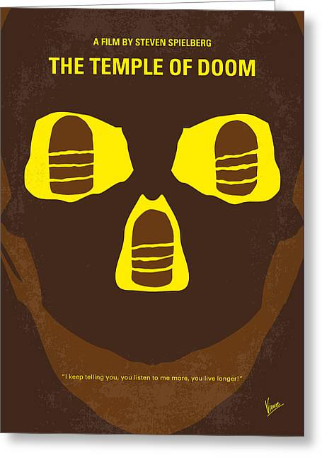 Shorts Greeting Cards - No517 My The temple of doom minimal movie poster Greeting Card by Chungkong Art