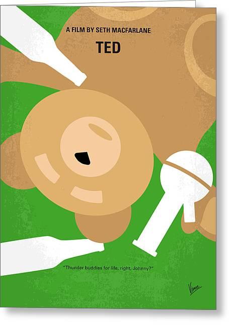 No519 My Ted Minimal Movie Poster Greeting Card by Chungkong Art