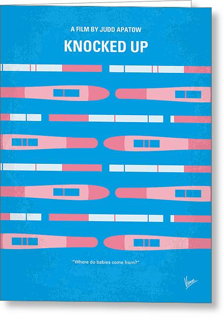 No521 My Knocked Up Minimal Movie Poster Greeting Card by Chungkong Art