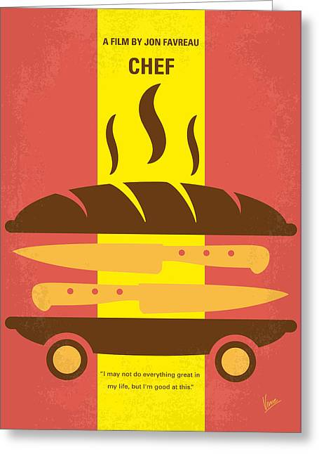 Truck Digital Greeting Cards - No524 My CHEF minimal movie poster Greeting Card by Chungkong Art
