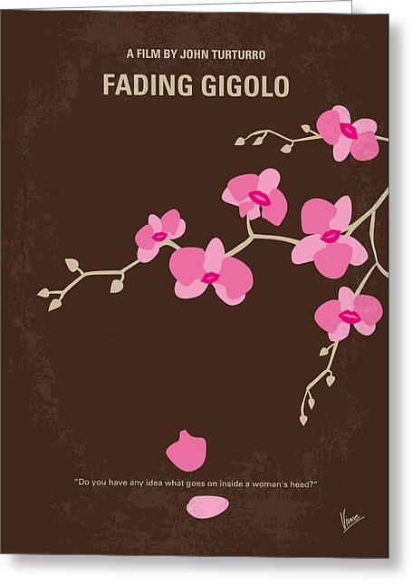 No527 My Fading Gigolo Minimal Movie Poster Greeting Card by Chungkong Art