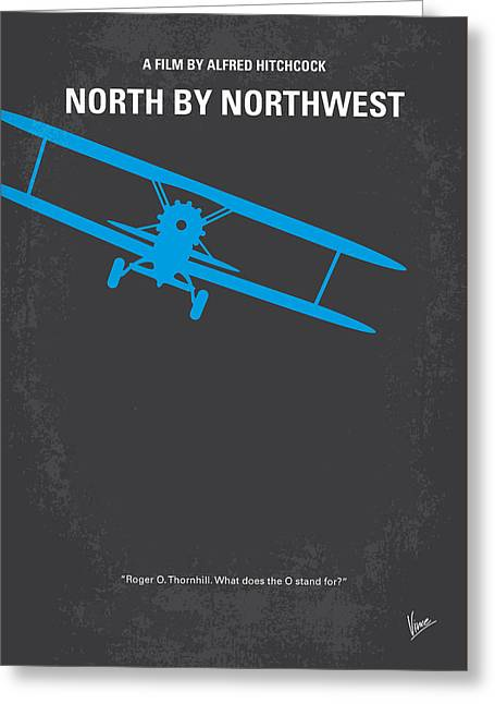 No535 My North By Northwest Minimal Movie Poster Greeting Card by Chungkong Art