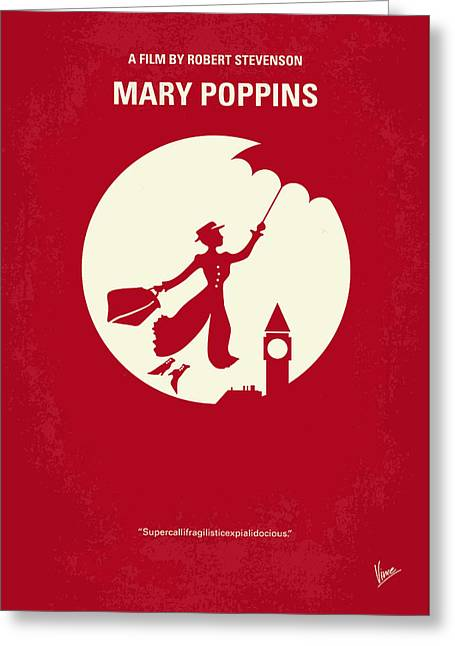 No539 My Mary Poppins Minimal Movie Poster Greeting Card by Chungkong Art