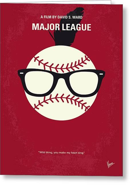 No541 My Major League Minimal Movie Poster Greeting Card by Chungkong Art