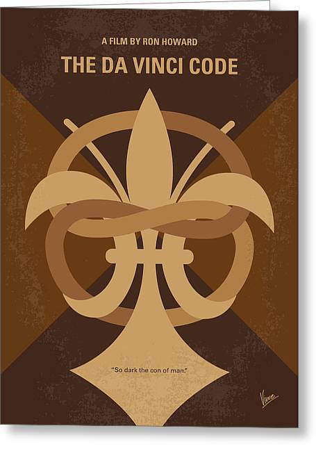 No548 My Da Vinci Code Minimal Movie Poster Greeting Card by Chungkong Art