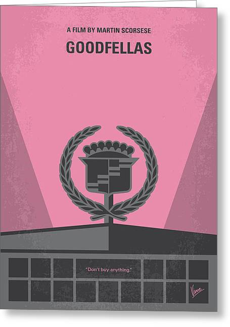 Nyc Posters Greeting Cards - No549 My Goodfellas minimal movie poster Greeting Card by Chungkong Art