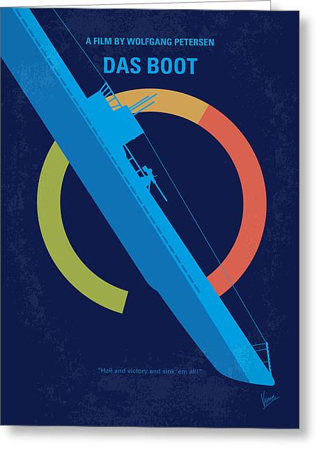 Boot Greeting Cards - No553 My Das Boot minimal movie poster Greeting Card by Chungkong Art