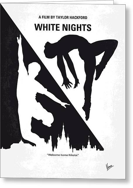 No554 My White Nights Minimal Movie Poster Greeting Card by Chungkong Art