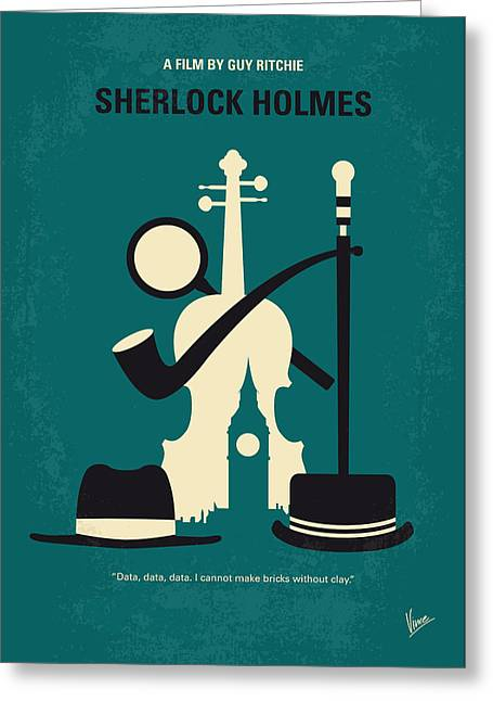 No555 My Sherlock Holmes Minimal Movie Poster Greeting Card by Chungkong Art