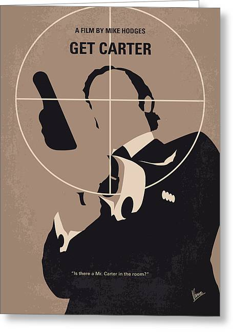 No557 My Get Carter Minimal Movie Poster Greeting Card by Chungkong Art