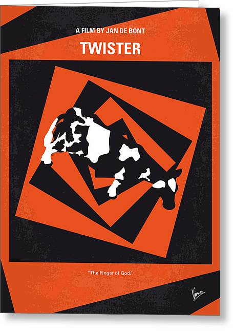 No560 My Twister Minimal Movie Poster Greeting Card by Chungkong Art